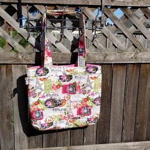 d12b410134299 Handbags - Tote/ Paris bag/Tote Bag/Pink Tote/Reversible bag